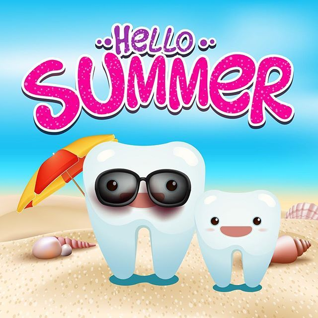Afbeeldingsresultaat voor zomervakantie tandarts